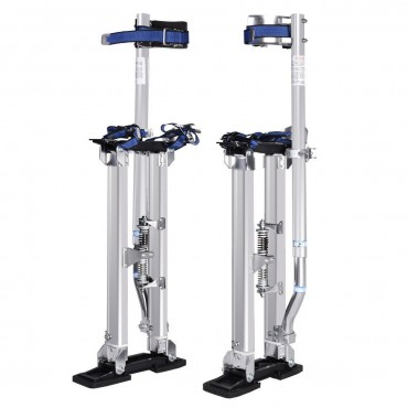 Silver 18 In. - 30 In. Drywall Aluminum Stilts