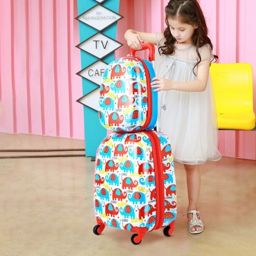 2 Pcs 12 In. And 16 In. Kids Luggage Set