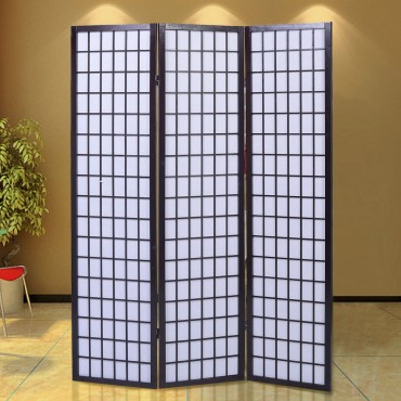 3 Panel Wood Folding Privacy Room Divider