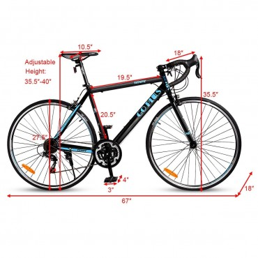 700C 21 Speed Quick Release Aluminum Road Bike