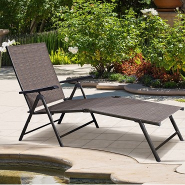 Outdoor Adjustable Chaise Lounge Chair