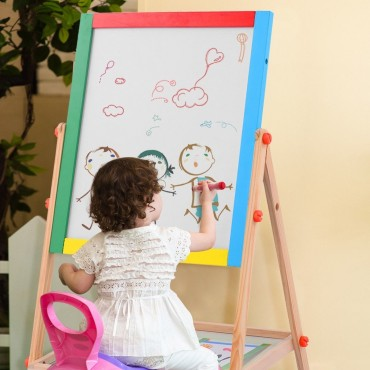 Adjustable 2 In 1 Wooden Easel Drawing Board