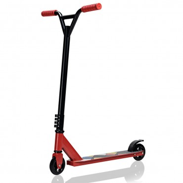 Lightweight Aluminum Freestyle Stunt Kick Scooter 2 Wheels Adults Teenagers Red
