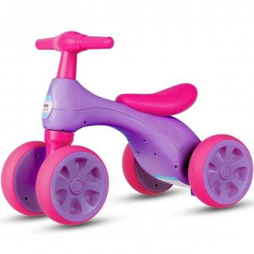 4-Wheel Baby Balance Bike With Sound And Storage Box