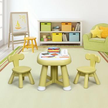 Kids Table And 2 Chair Set W / Storage Bins