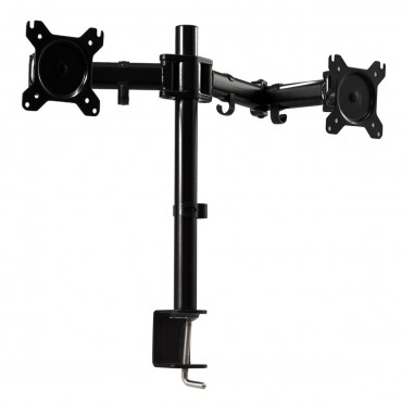 Dual Monitor Arm Desk Table Mount Swivel Stand