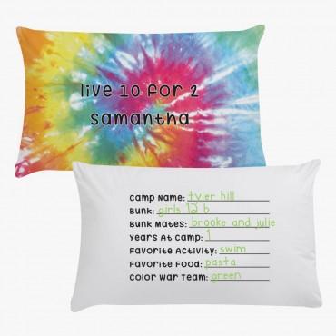 Samantha Tie Dye Personalized Pillowcase