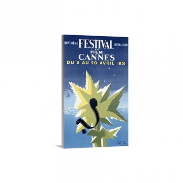 International Film Festival, Cannes, 1951,Vintage Poster - Canvas - Gallery Wrap