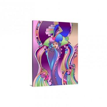 Art Deco Lady Bird Wall Art - Canvas - Gallery Wrap