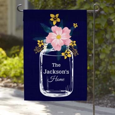 Flower Jar Personalized Home Garden Flag