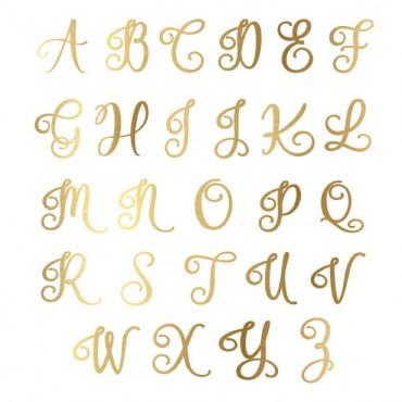 Script Monogram Pink Marble Keychain