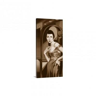 Olive Satin Dress Wall Art - Canvas - Gallery Wrap