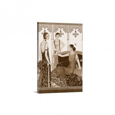 Art Deco Elegance I V Wall Art - Canvas - Gallery Wrap
