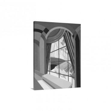 Large window with a seat, from Relais, c.1920s Wall Art - Canvas - Gallery Wrap