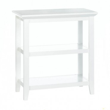 Slim White Display Table