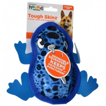 Outward Hound Tough Skins Frog Dog Toy - Small - 1 Count - 9 in. L x 7.5 in. W x 1.4 in. H - 2 Pieces