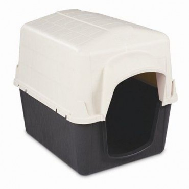 Pet mate Bar home III Shelter - White & Gray - X-Small - 26.5 in.L x 18 in.W x 16.5 in.H