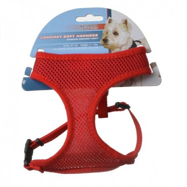 Coastal Pet Comfort Soft Adjustable Harness - Red - Small - 3/8 in. Wide - Girth Size 19 in. - 23 in. - 2 Pieces