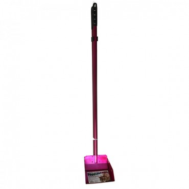 Flexrake Panorama Dog Scoop and Spade - Raspberry - Small - 3 in. Handle