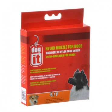 Dog It Nylon Muzzle for Dogs - Small - 4.7 in. Long - 3 Pieces