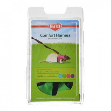 Kaytee Comfort Harness with Safety Leash - Small (5 in. - 7 in. Neck and 7 in. - 9 in. Waist - 2 Pieces