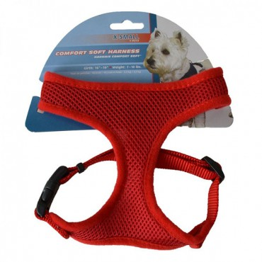 Coastal Pet Comfort Soft Adjustable Harness - Red - Small - 3/4 in. Wide - Girth Size 19 in. - 23 in.