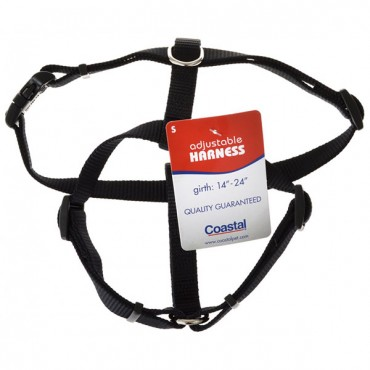 Tuff Collar Nylon Adjustable Harness - Black - Small - Girth Size 14 in. - 24 in.