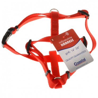 Tuff Collar Nylon Adjustable Harness - Red - Small - Girth Size 14 in. - 24 in.