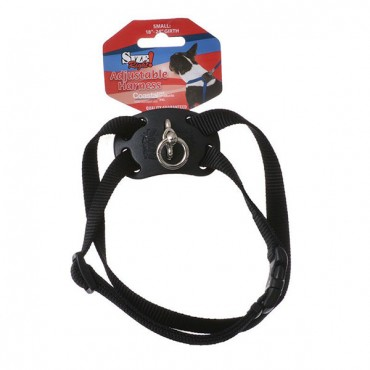 Coastal Pet Size Right Nylon Adjustable Harness - Black - Small - Girth Size 18 in. - 24 in.