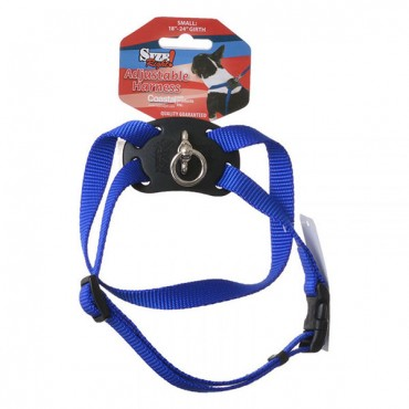 Coastal Pet Size Right Nylon Adjustable Harness - Blue - Small - Girth Size 18 in. - 24 in.
