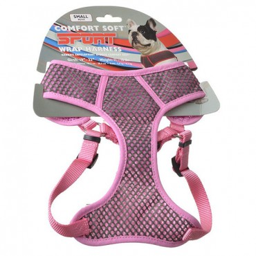 Coastal Pet Sport Wrap Adjustable Harness - Pink - Small - Girth Size 19 in. - 23 in.