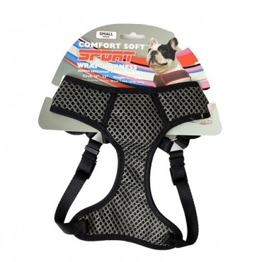 Coastal Pet Sport Wrap Adjustable Harness - Black - Small - Girth Size 19 in. - 23 in.