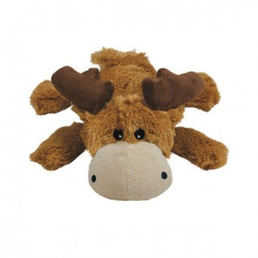 Kong Cozier Plush Toy - Small Moose Dog Toy - Small - Moose Dog Toy - 4 Pieces