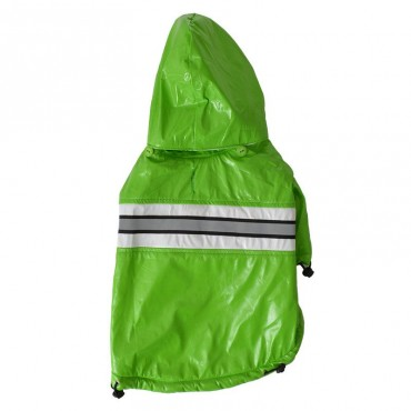 Pet Life Reflecta-Glow Adjustable and Reflective Raincoat for Dogs - Green - Small - 10 - 12 Neck to Tail