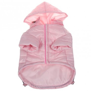 Pet Life Sporty Avalanche Lightweight Dog Coat with Hood - Pink - Small -  10 -12 Neck to Tail