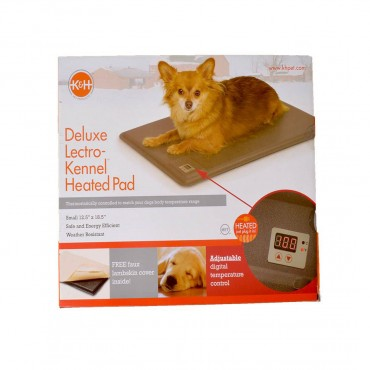 K and H Lectro-Kennel Heated Pad - Delux - Small - 18.5 Long x 12.5 Wide