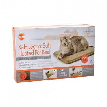 K and H Pet Products Lectro Soft Heating Bed - Indoor Outdoor - Small - 18 L x 14 W x 1.5 H