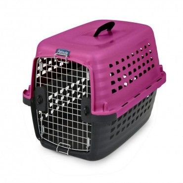 Petmate Compass Kennel - Black and Hot Pink - Small - 24.6 L x 16.9 W x 15 H 10-20 lbs