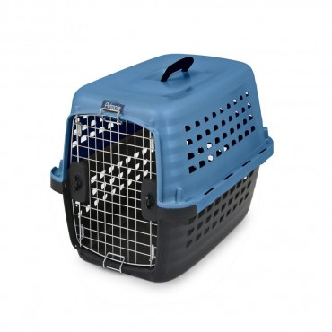 Petmate Compass Kennel - Blue and Black - Small - For Dogs 10-20 lbs - 24.6 L x 16.9 W x 15 H