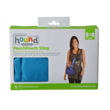 Outward Hound Sling-Go Pet Sling Carrier - Blue - Small For Pets up to 15 lbs