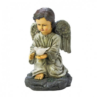Solar Angel With Dove Statue