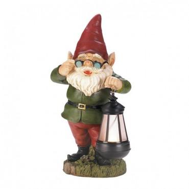 Solar Lantern Keeper Gnome Statue