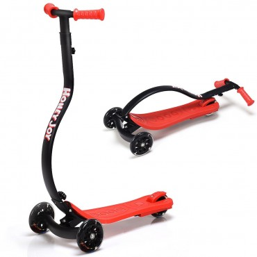 Folding Kids C Shape Anti-Collision Adjustable Kick Scooter