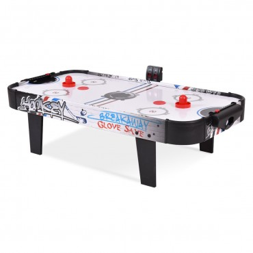 42 In. Air Powered Hockey Table Top Scoring 2 Pushers