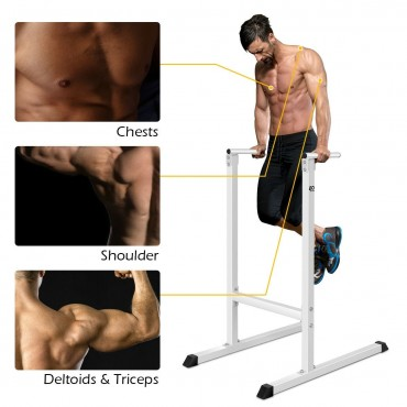Goplus Dip Stand Pull Push Up Bar