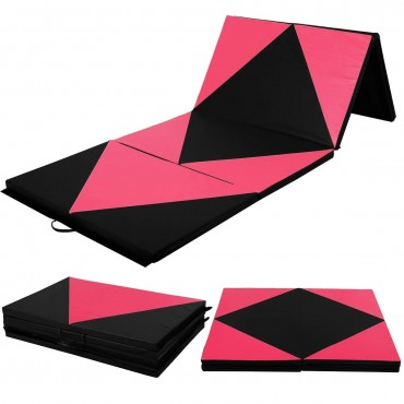 Thick Gymnastics Fitness Exercise Mat with Folding Panel