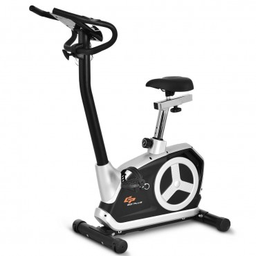 Goplus Magnetic Resistance Bike With Phone Holder