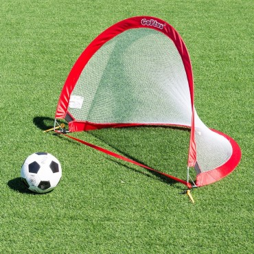 Set Of 2 Portable 4 Ft, Pop-Up Soccer Goals Set W/ Carrying Bag
