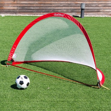 Set Of 2 Portable 6' Pop-Up Soccer Goals Set W/ Carrying Bag