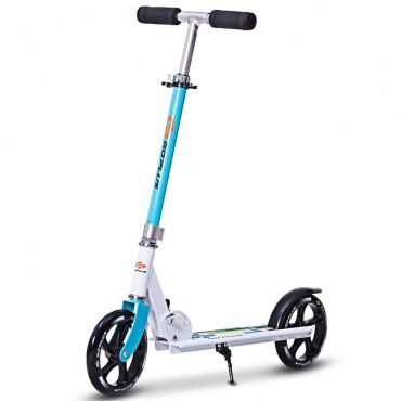 Foldable Aluminum Height Adjustable Adults Kids Kick Scooter